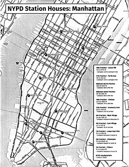 NYPD Precinct Map (Manhattan)